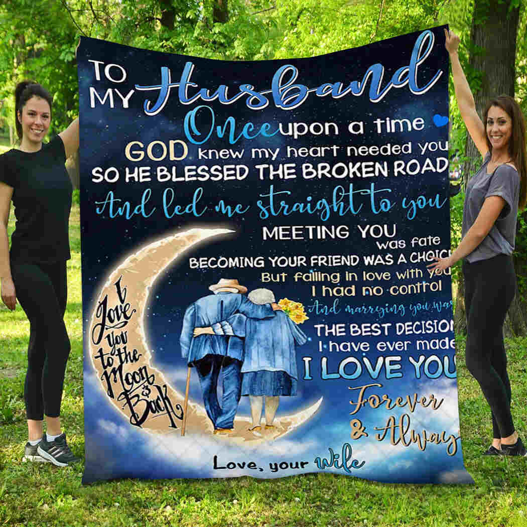 To My Husband Blanket - One Upon A Time Quilt