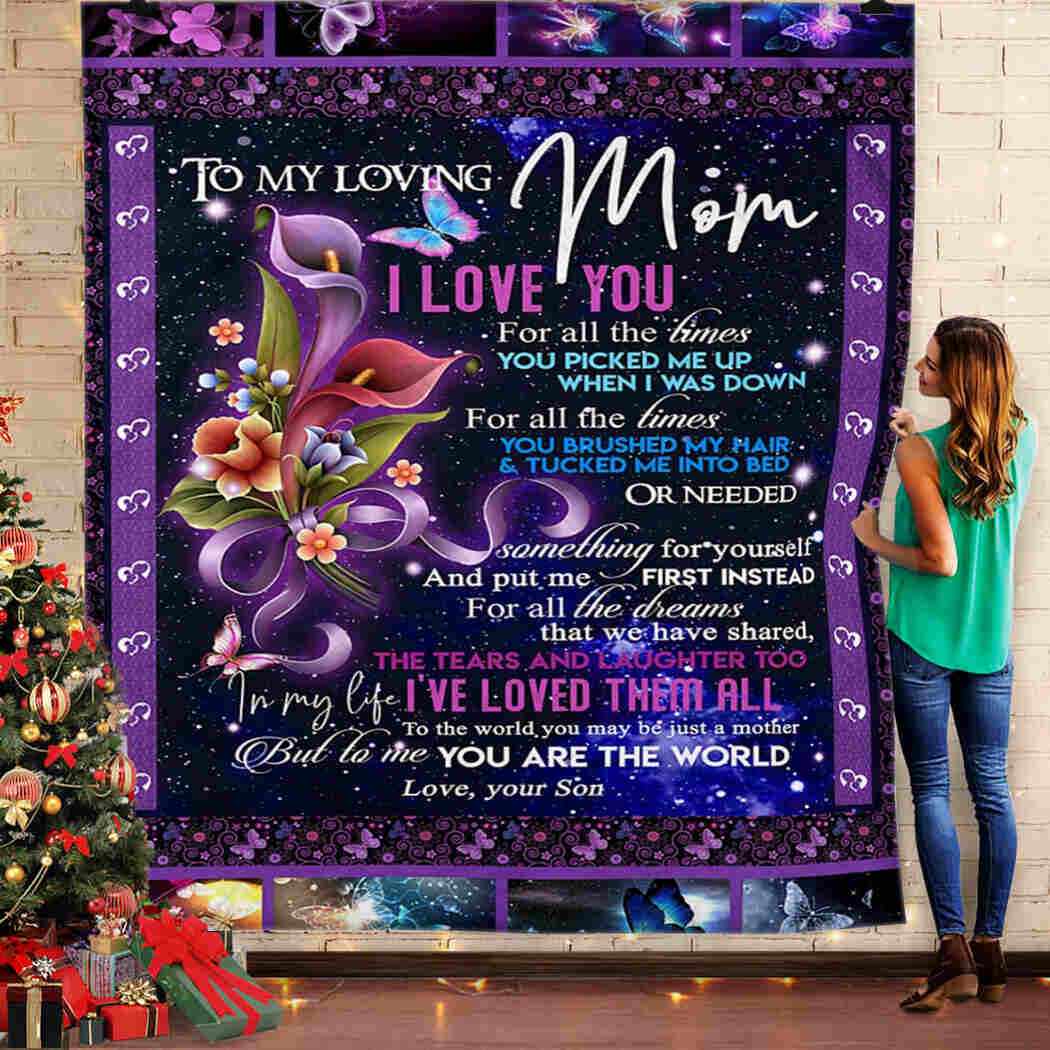 To My Mom Blanket - I Love You - Your Son