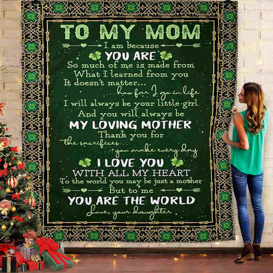 To My Mom - Gift From Daughter Blanket