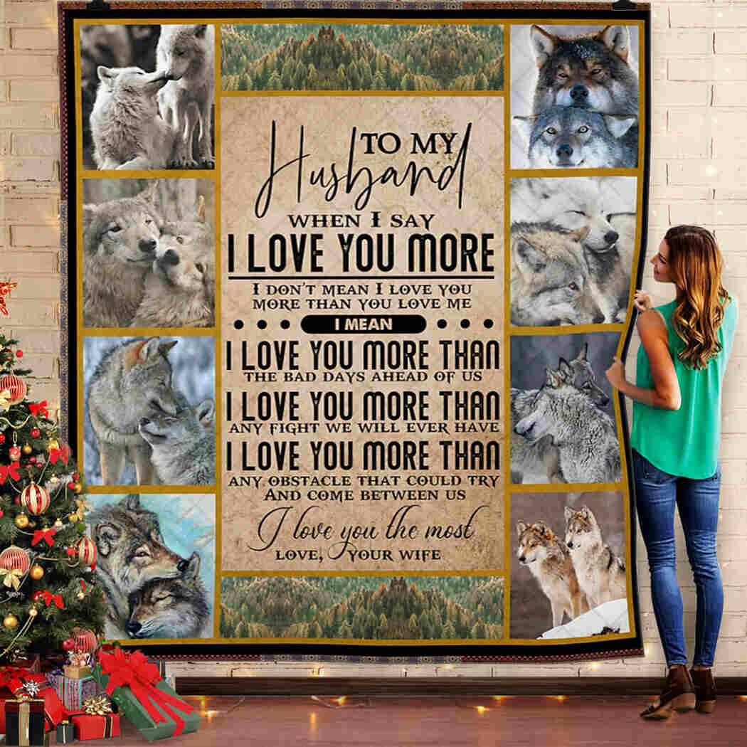 Husband - I Love You The Most Blanket - I Love You Forever And Always Blanket