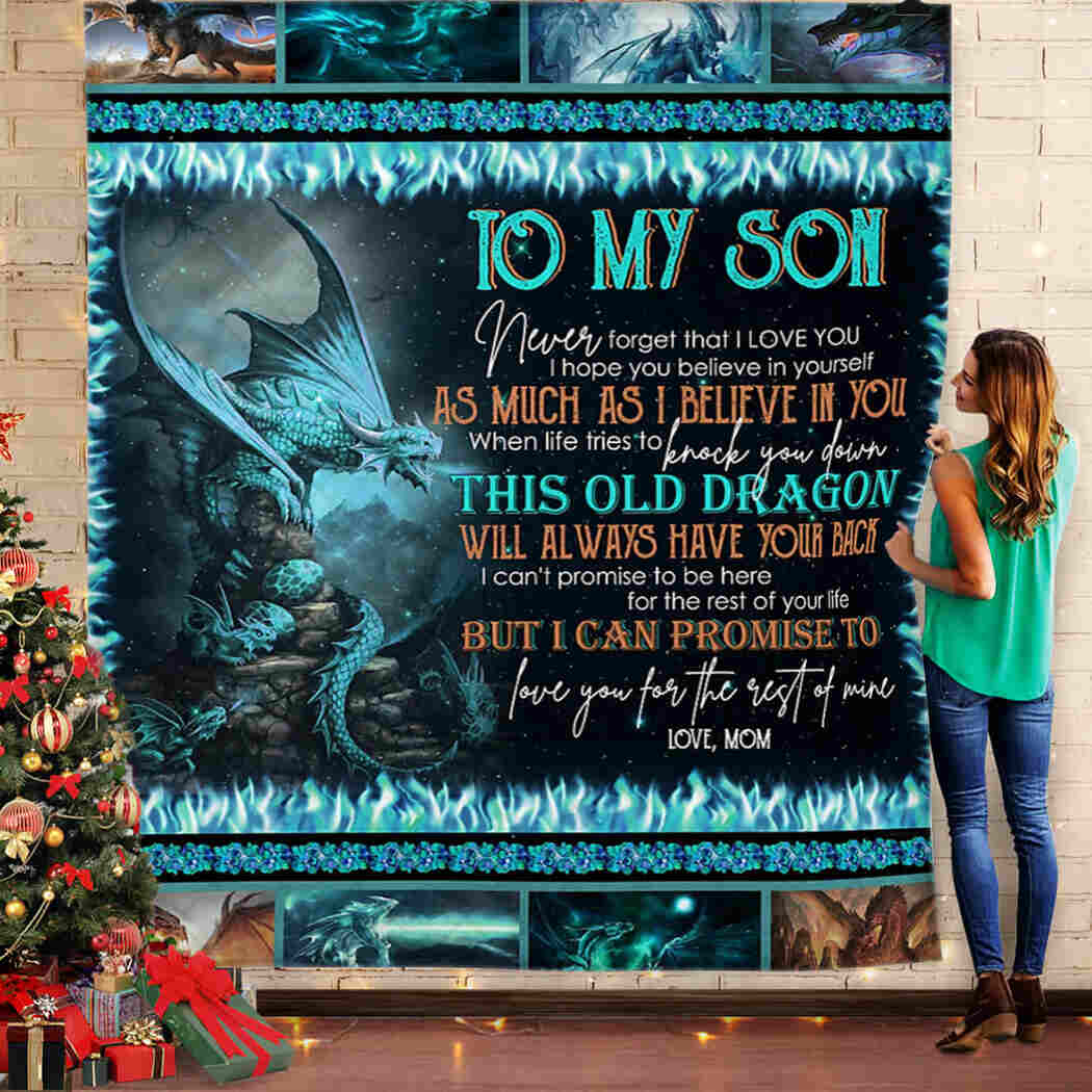 To My Son - Love You For The Rest Of Mine Blanket
