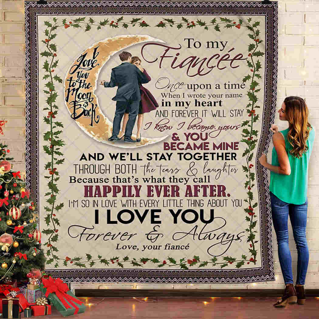 To My Fiance. One Upon A Time Queen Quilt Blanket