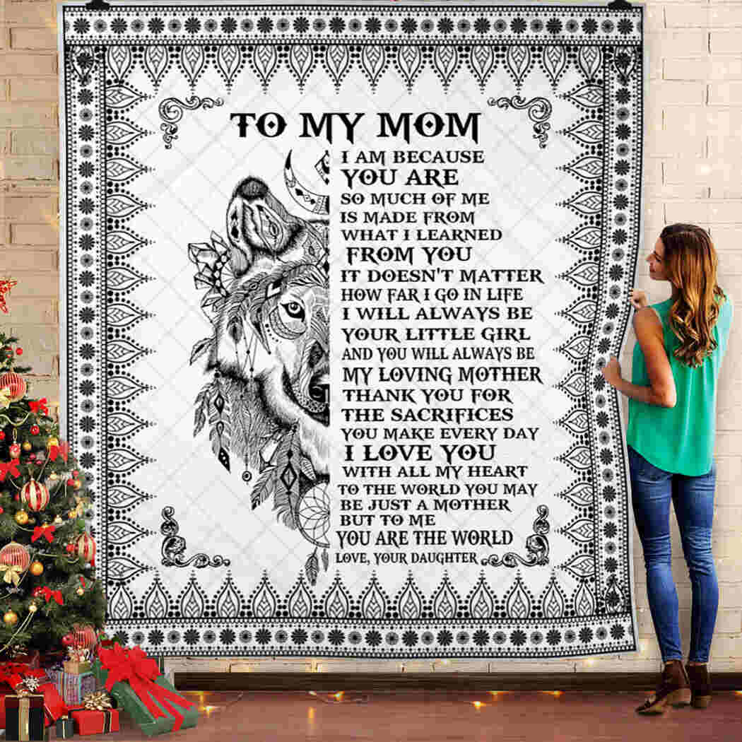 To My Mom Blanket - Dreamcatcher - Love. Your Daughter