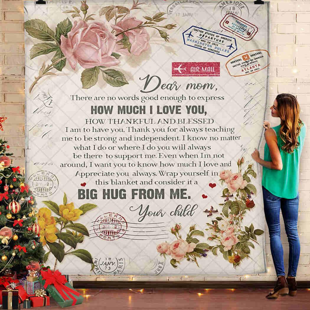 Dear Mom - Air Mall - How Much I Love You Blanket