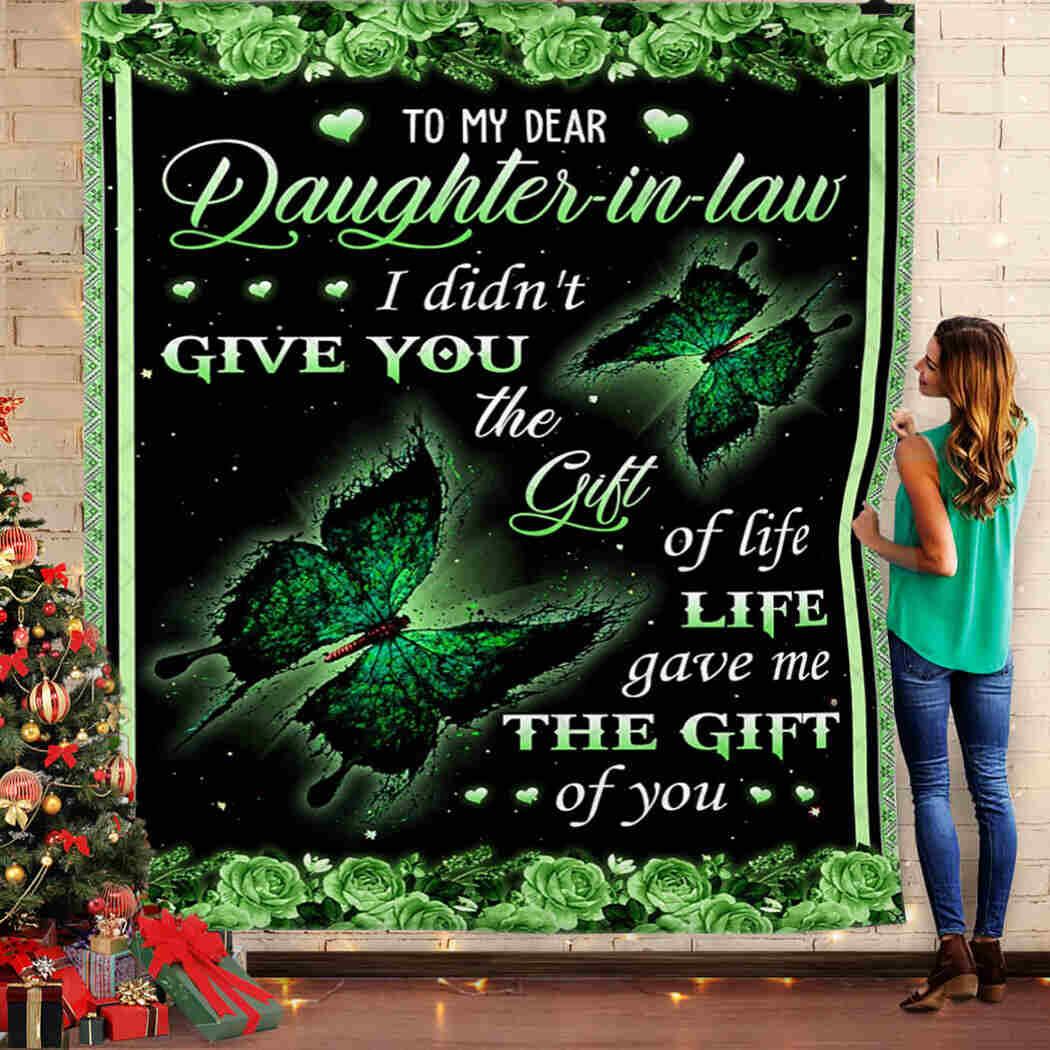 To My Dear Daughter In Law Blanket - Butterfly Blanket