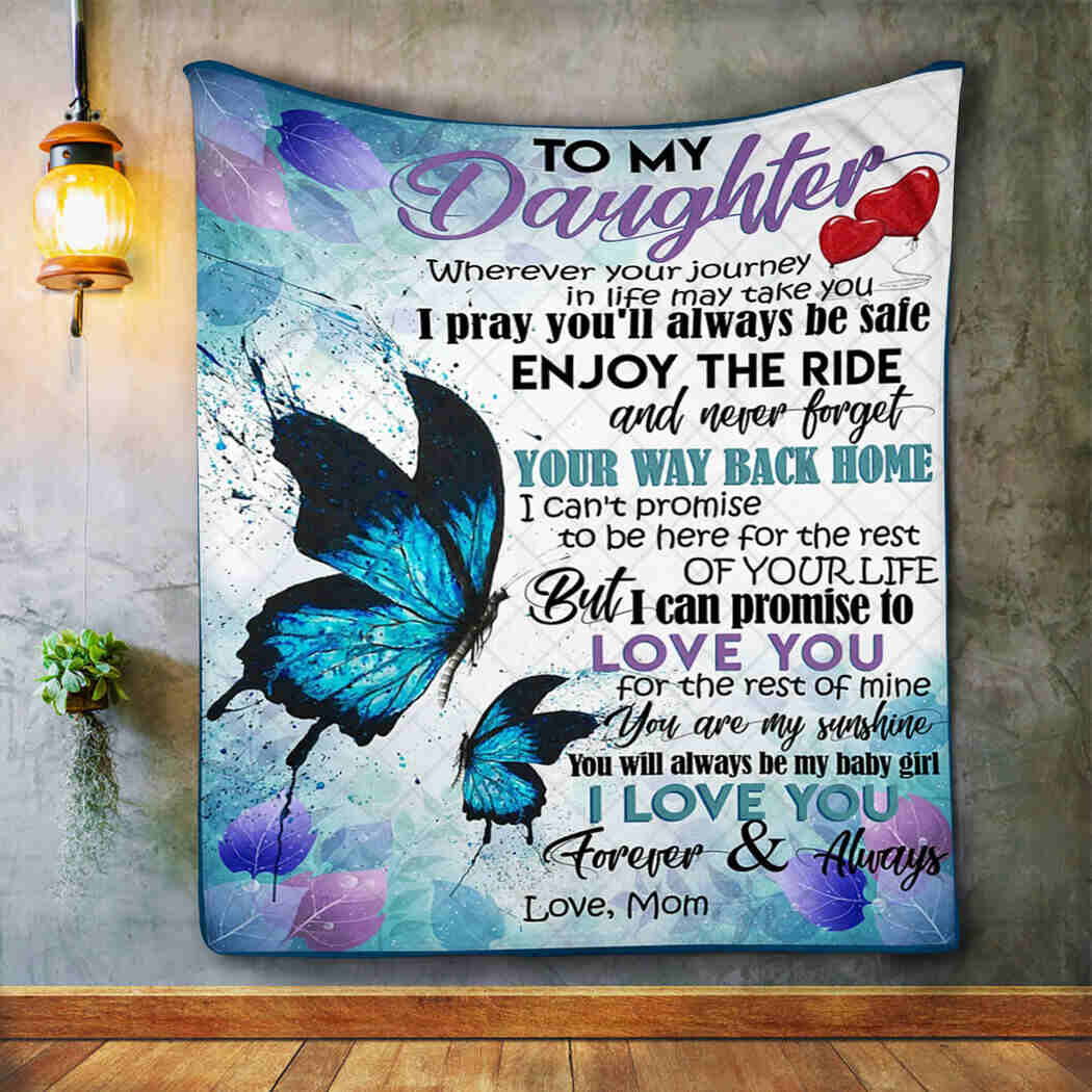 Butterfly Quilt - Mommy Daughter Blanket