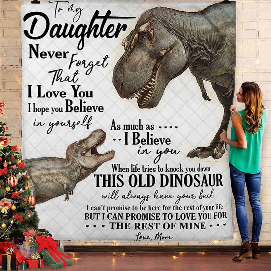 To My Daughter - Dinosaur - I Love You Blanket