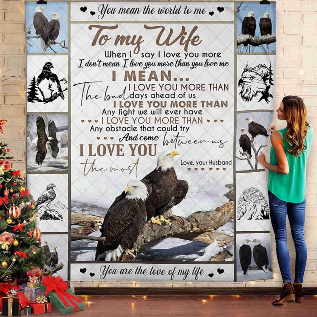 Eagle Blanket - To My Wife Blanket