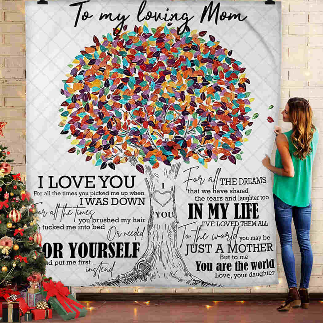 To My Mom Blanket - I Love You For All The Time King Quilt