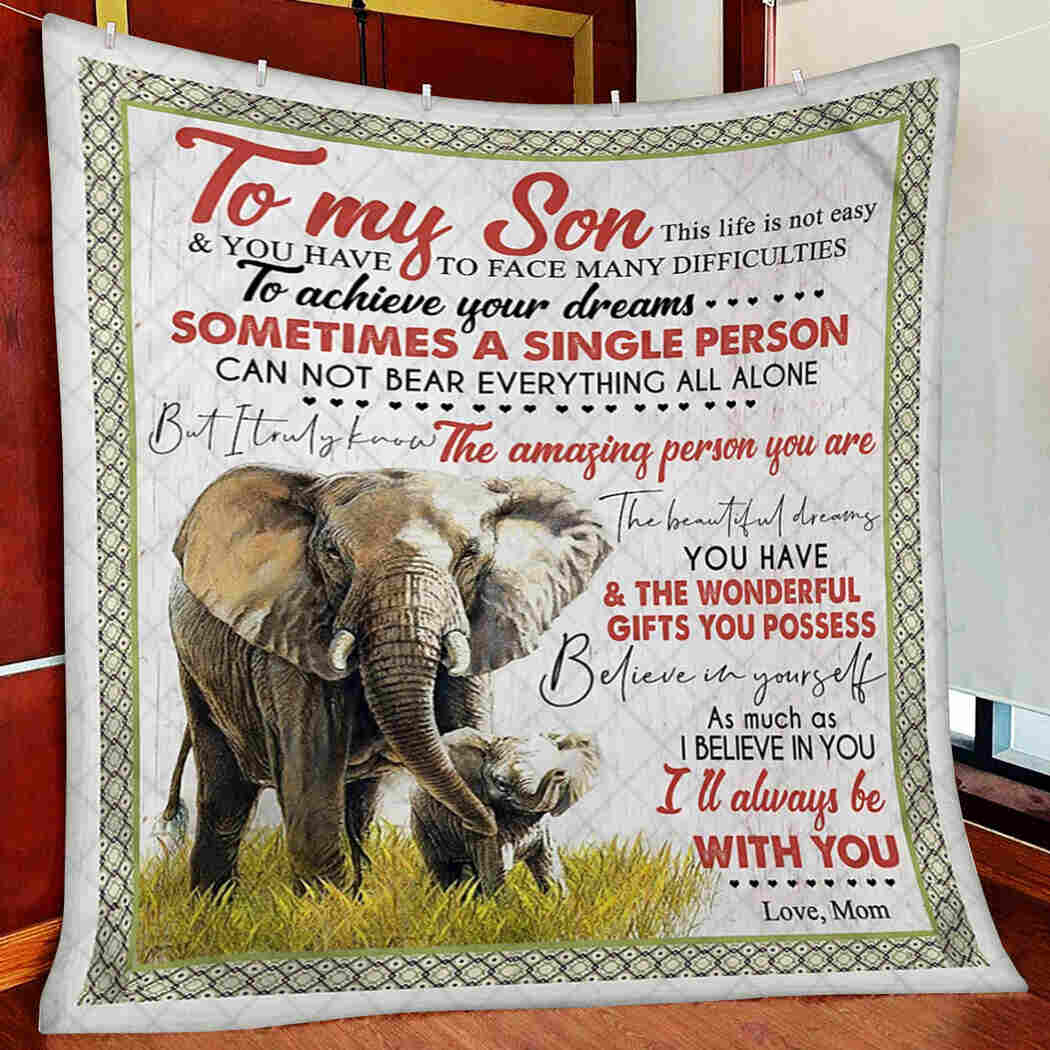 Elephant Blanket - To My Son Blanket From Mom