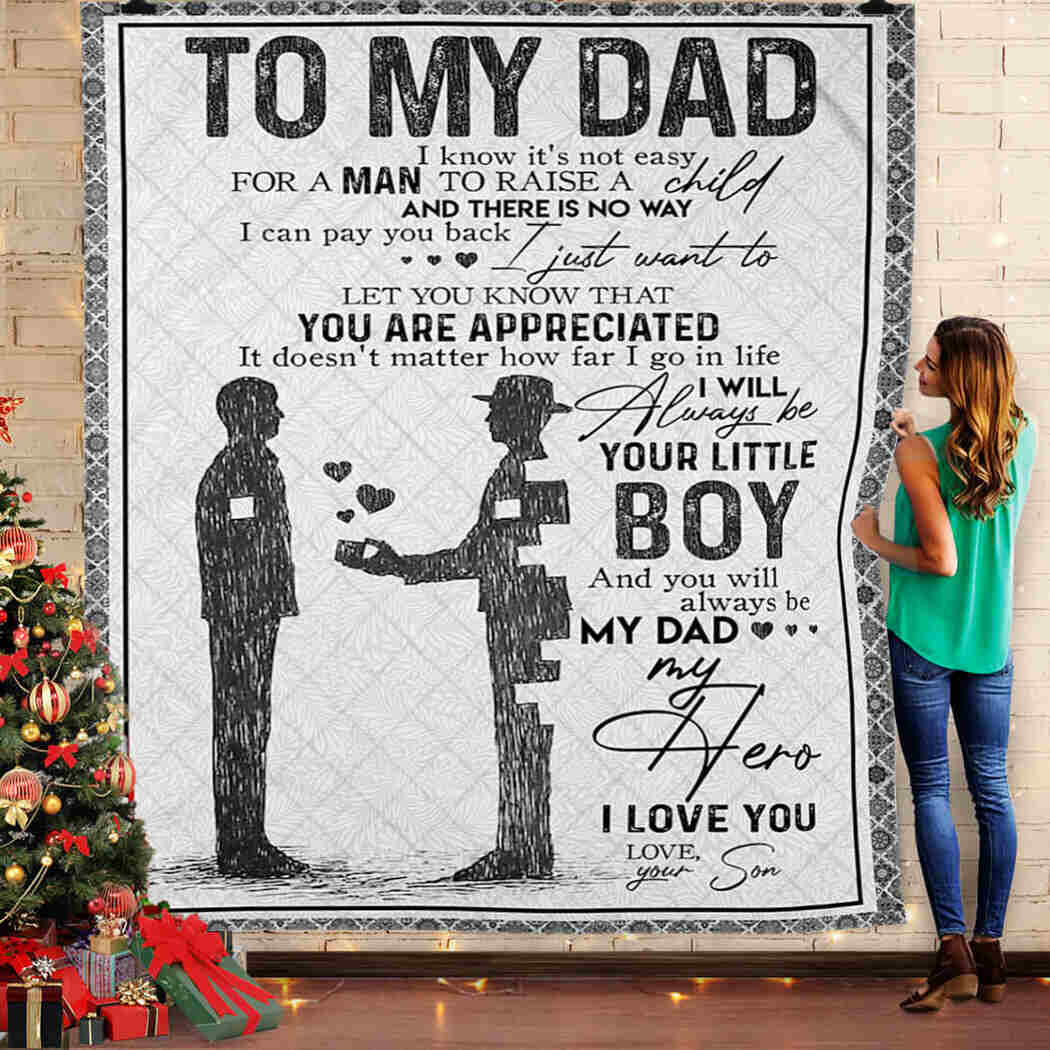 Dad And Son - To My Dad - I Love You Blanket