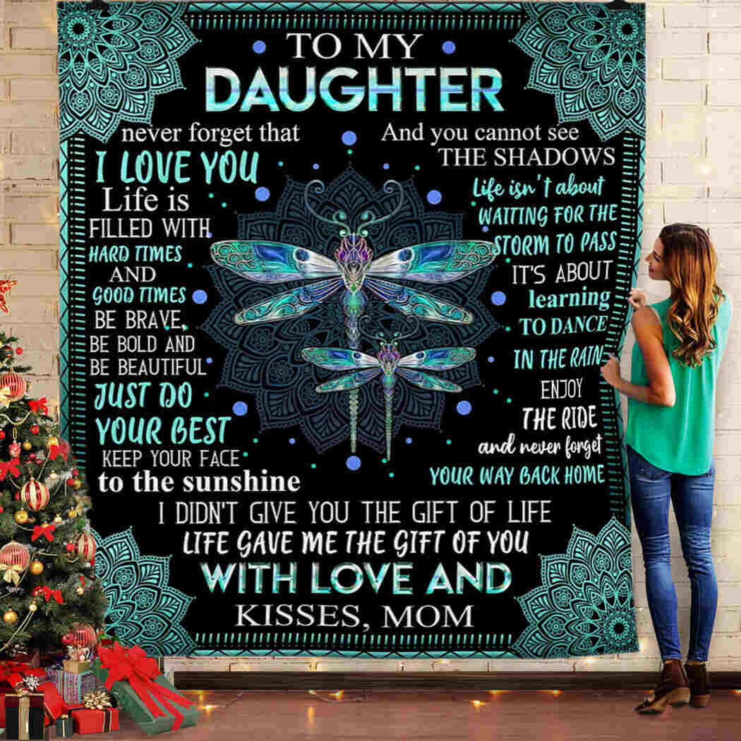 To My Daughter - Dragonfly - I Love You Blanket