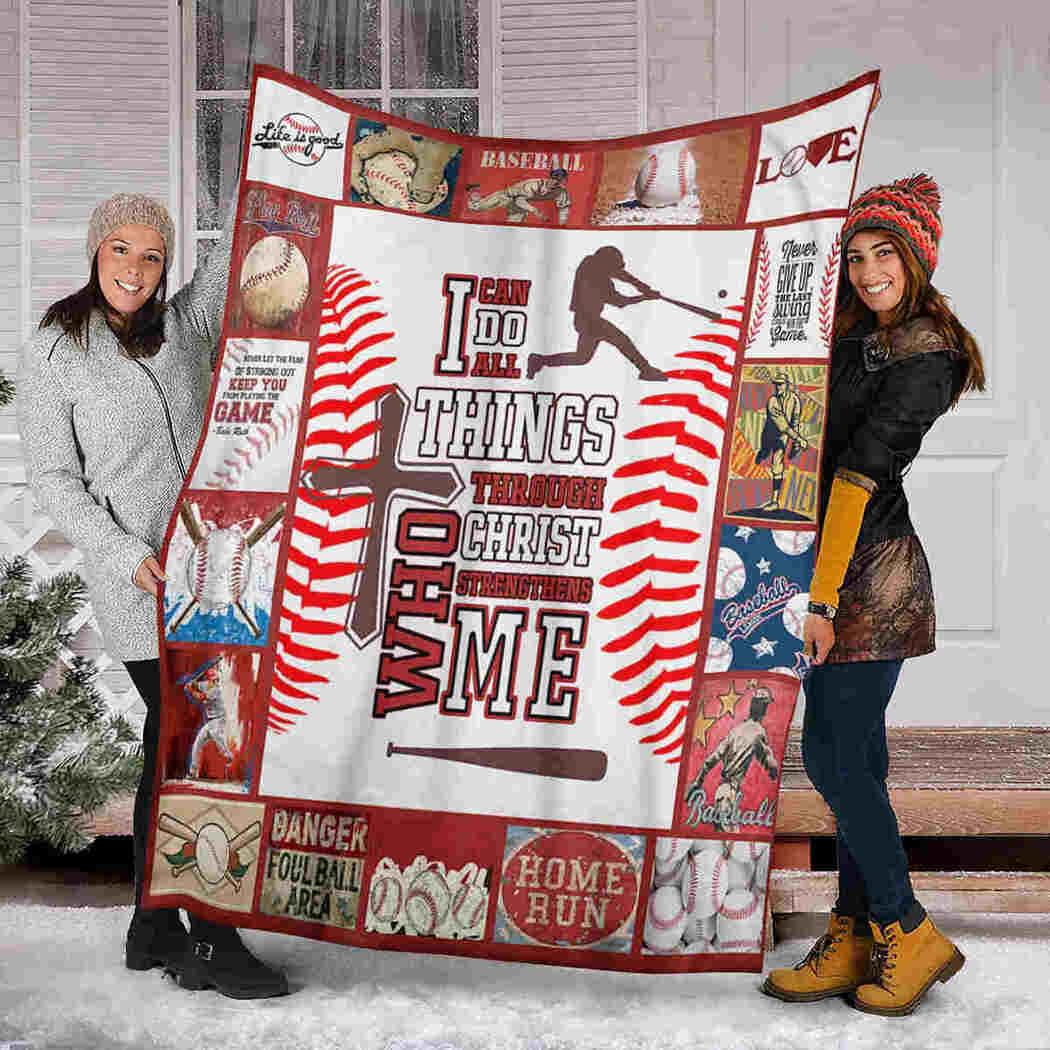 Baseball Lover Blanket - I Love Baseball Blanket