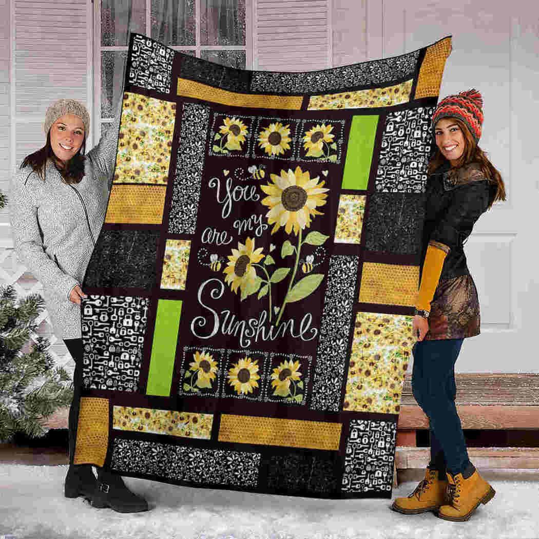 Sunflower Beauty Blanket - You Are My Sunshine Blanket