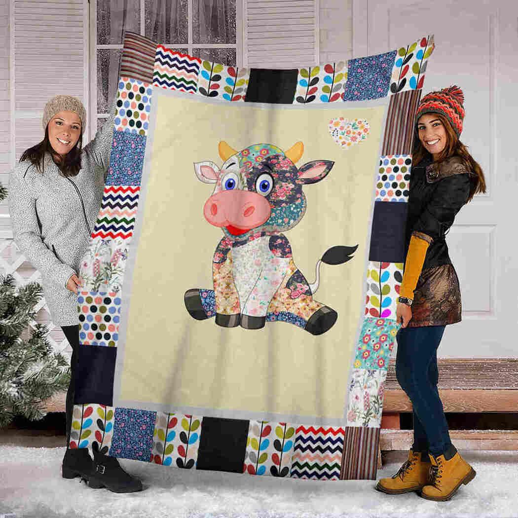 Cow Cute Blanket - I Love Cow Blanket