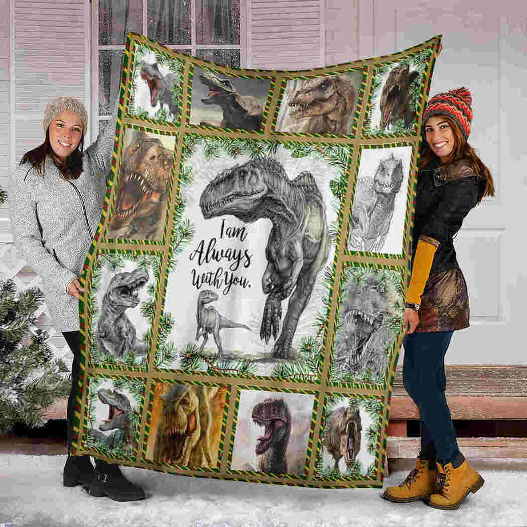 Dinosaurs Blanket - I Am Always With You Blanket