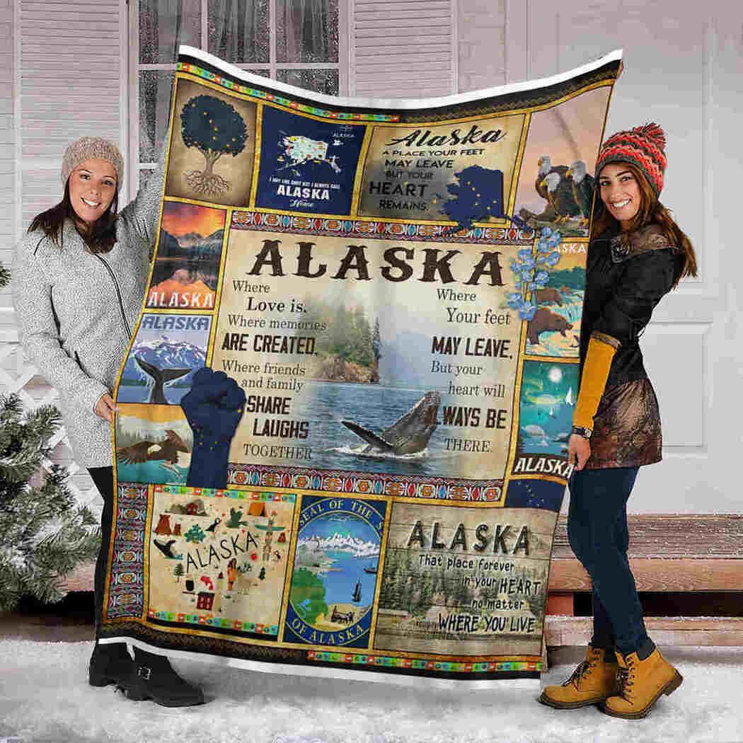 Alaska Where Love Is Blanket - Alaska Place Forever In Your Heart Blanket