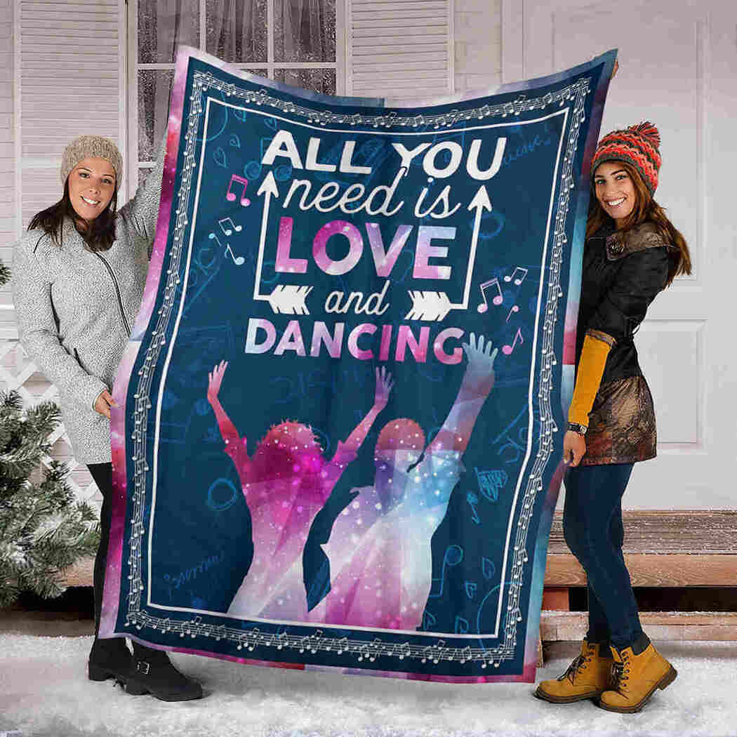 Couple Dancing Blanket - All You Need Is Love And Dancing Blanket