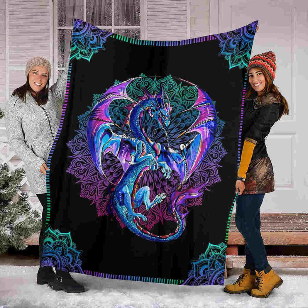 Amazing Dragon Mandala Blanket - Dragon Beauty Blanket