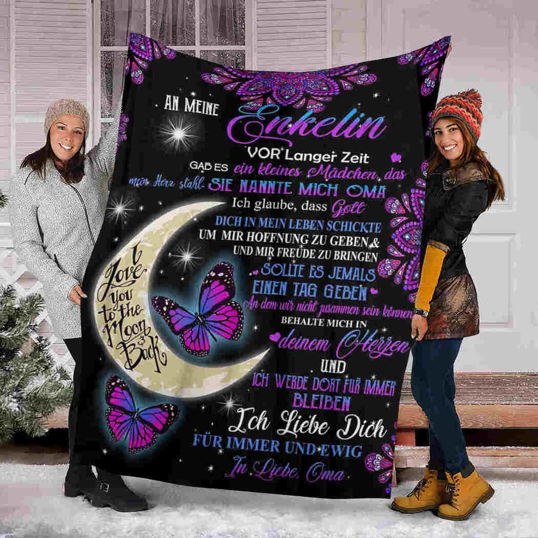 An Meine Enkelin Blanket - Mandala Moon - To My Granddaughter Blanket