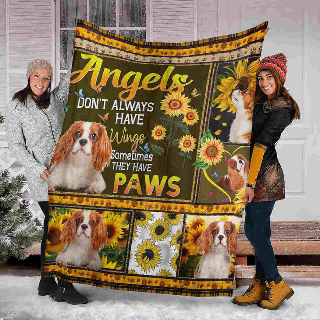 Angels Don't Always Have Wings Blanket - Sunflower Dog Blanket