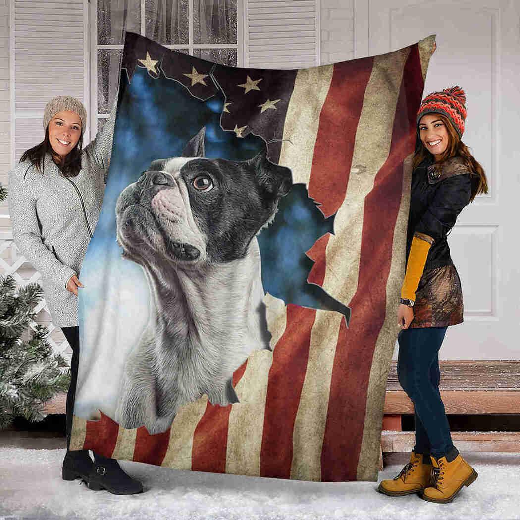 Beautiful Boston Terrier Native Blanket - Dog American Blanket