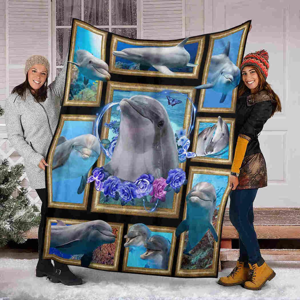 Beautiful Dolphin Blanket - Sea Animals Blanket