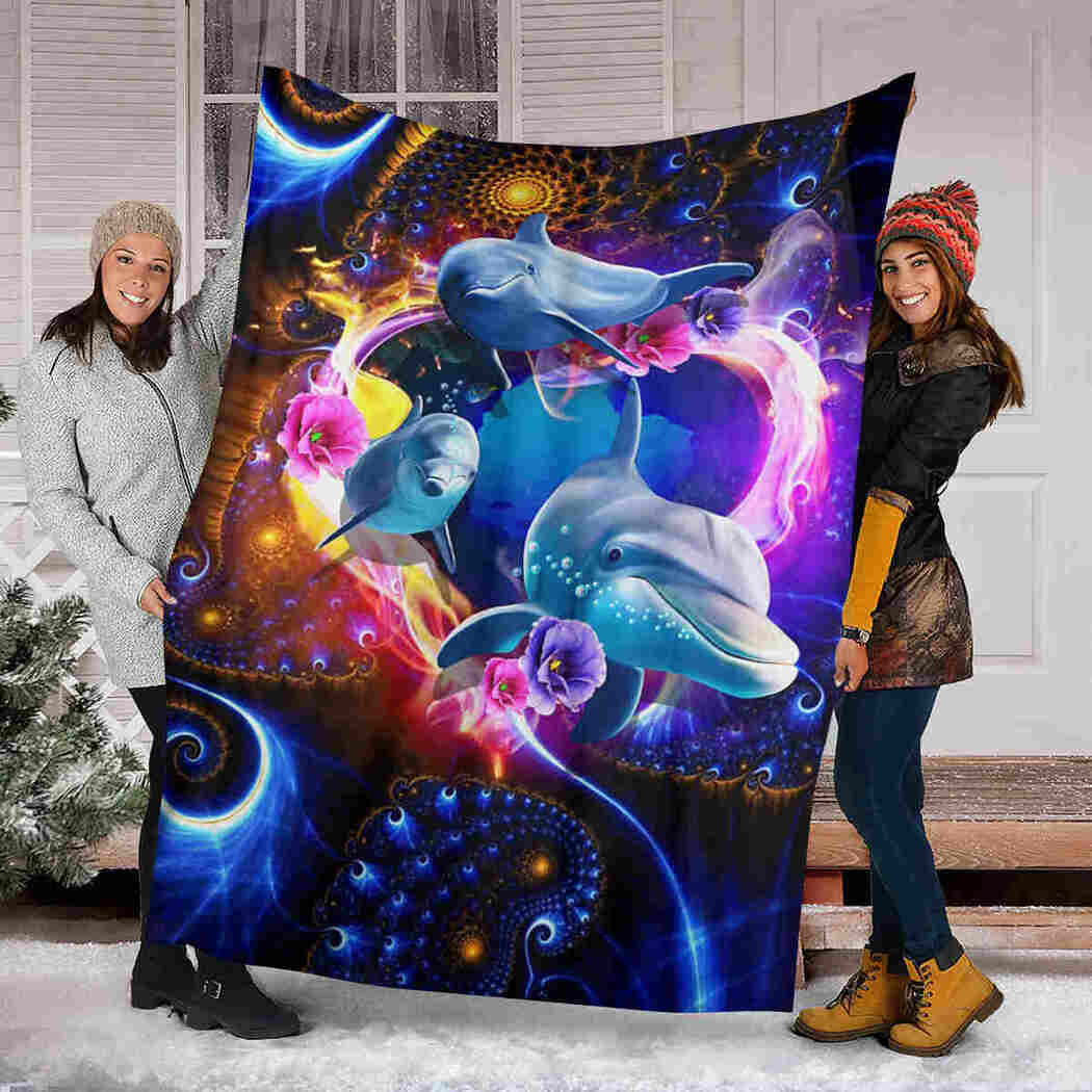 Beautiful Dolphins Blanket - Magic Sea Animals Blanket