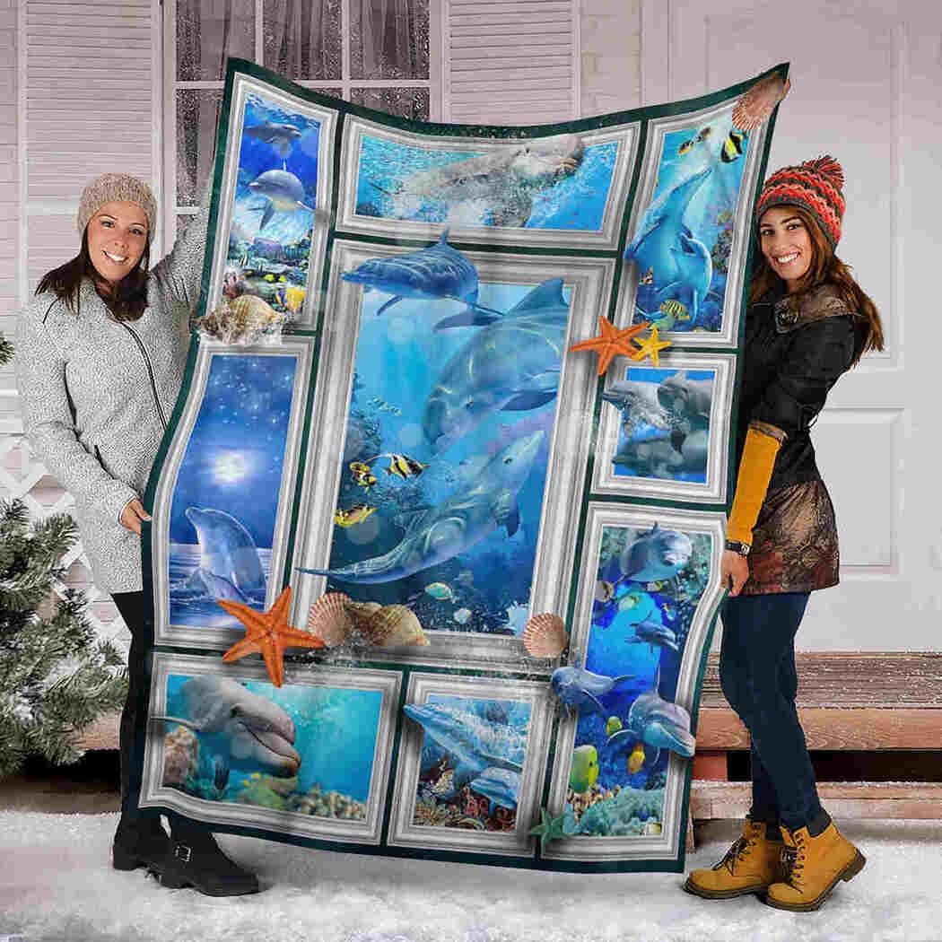 Beautiful Dolphins Blanket - Sea Animals Blanket
