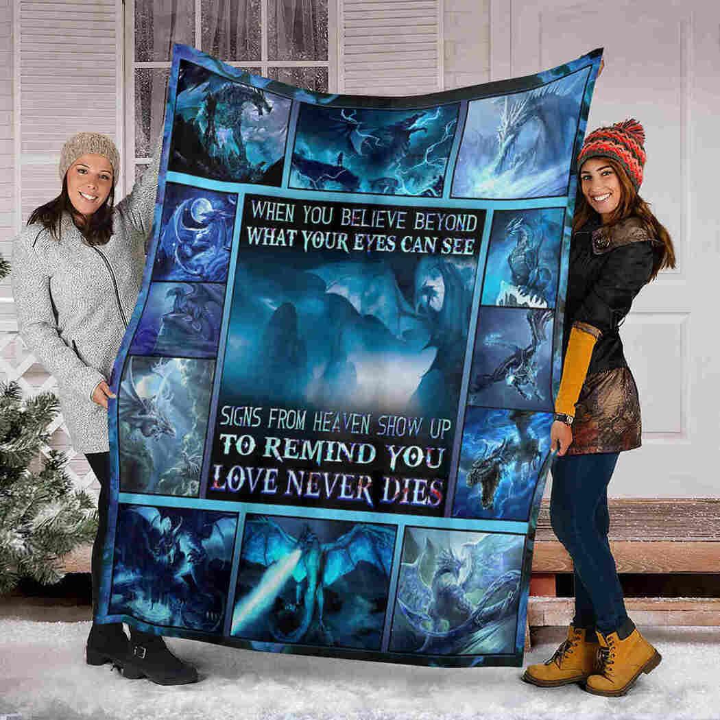 Believe Beyond Dragon Blanket - Dragon Love Never Dies Blanket