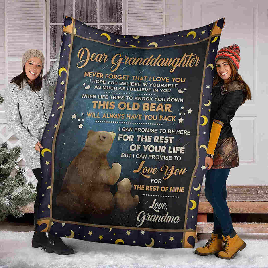Dear Granddaughter - Bear Galaxy - I Believe In You Blanket