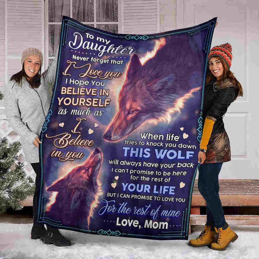 To My Daughter Blanket - Fox - I Believe In You Blanket