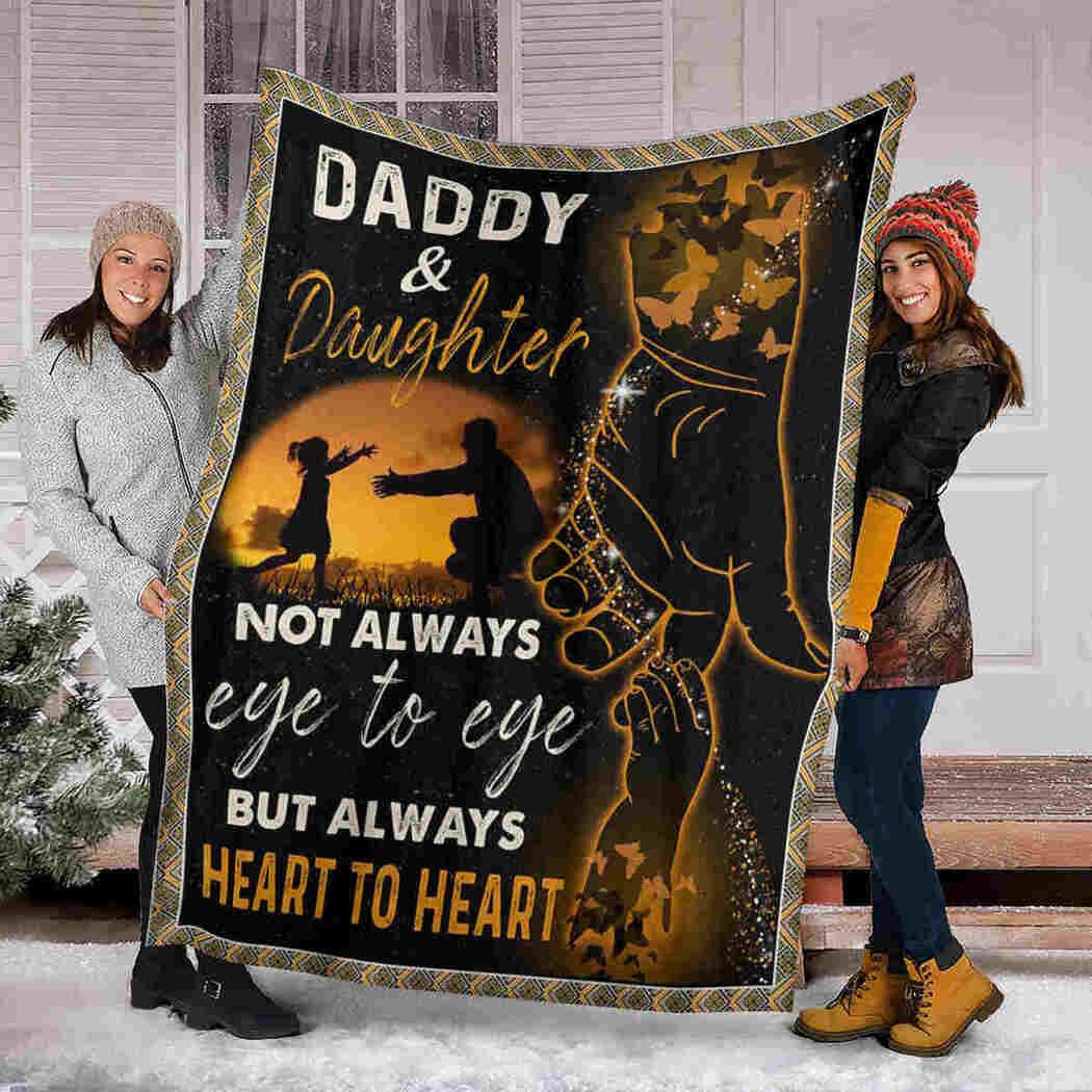 Daddy & Daughter Blanket - Always Heart To Heart Blanket