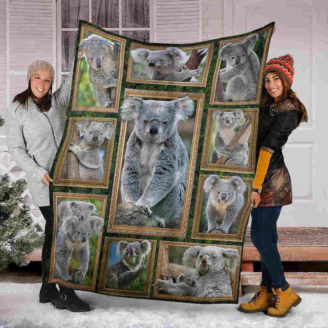 3D Koala Blanket - Wild Animals Blanket