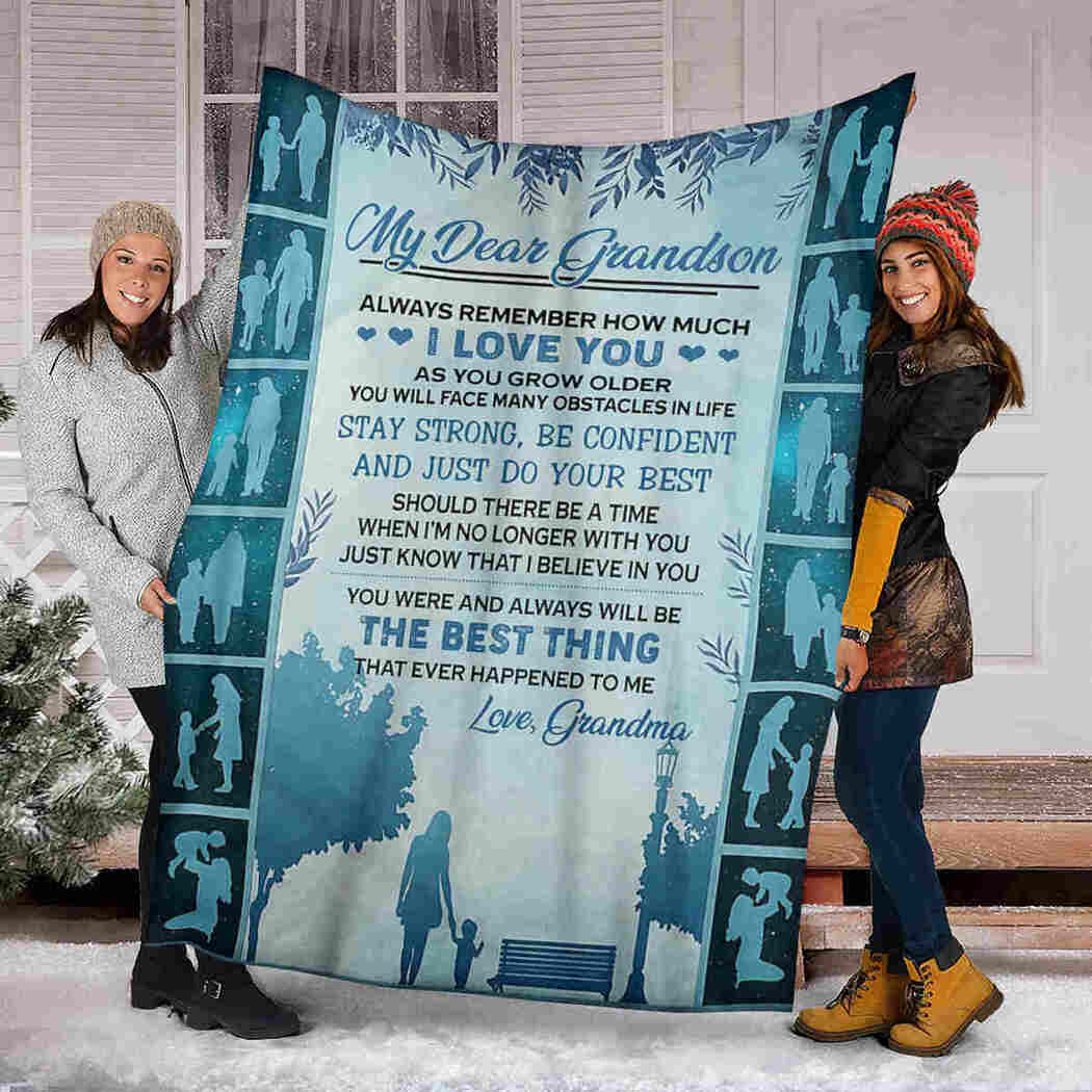 My Dear Grandson Blanket - Just Do Your Best Blanket