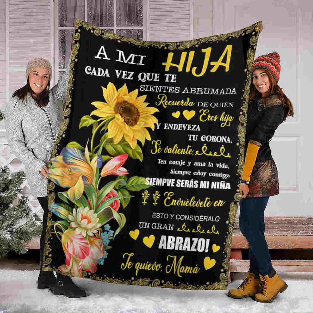 A Mi Hija - Beauty Sunflower - To My Daughter Blanket