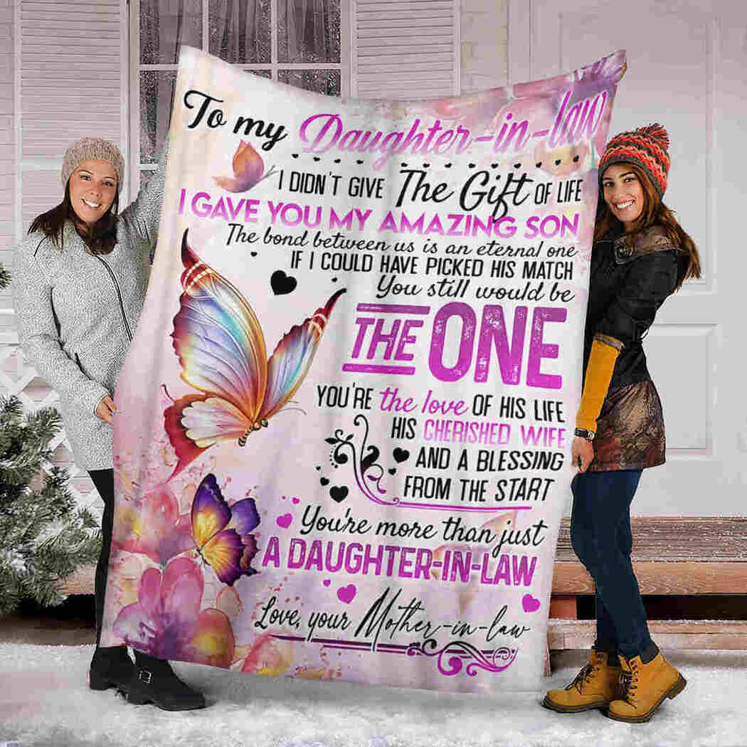 To My Daughter In Law Blanket - Butterfly Blanket - The Gift Of Life