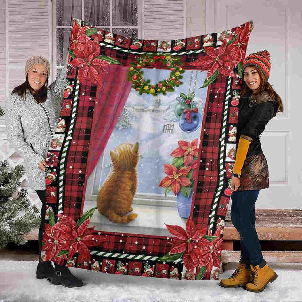 Cat Blanket - Christmas Blanket