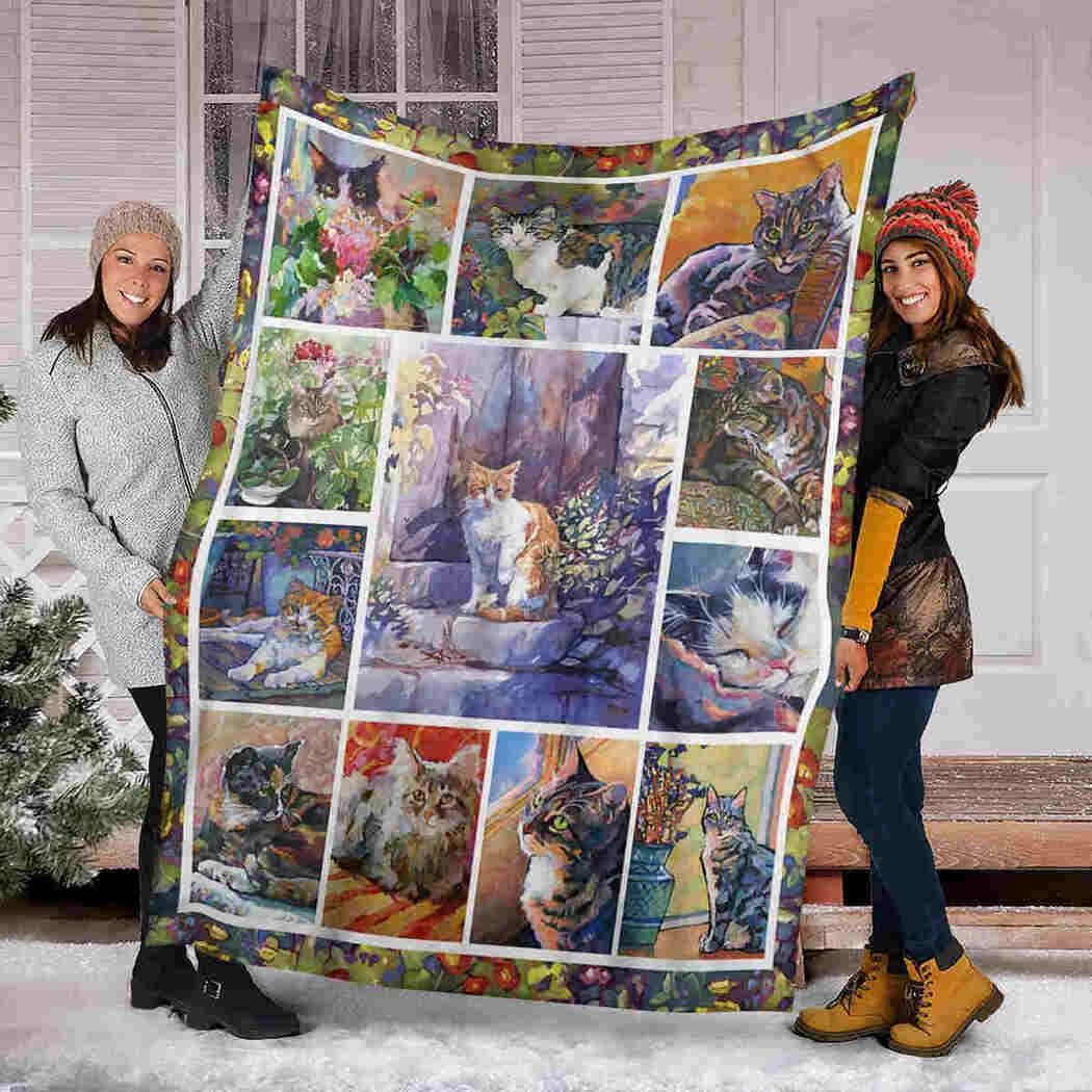 Cat Funny Beauty Blanket - Pets Cat Lover Blanket