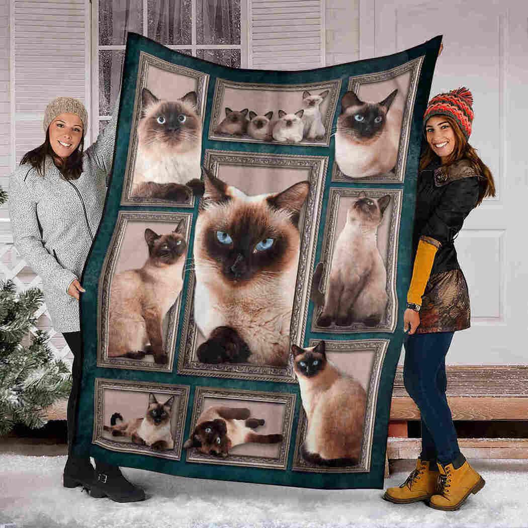 Cat Funny Blanket - Siamese Cat Beauty Blanket