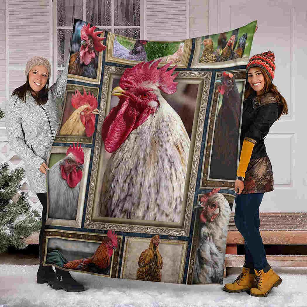 3D Chicken Blanket - Farm Animals Blanket