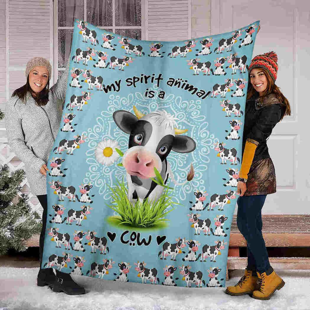Cow Mandala Blanket - Farm Animals - My Spirit Animal Is A Cow Blanket