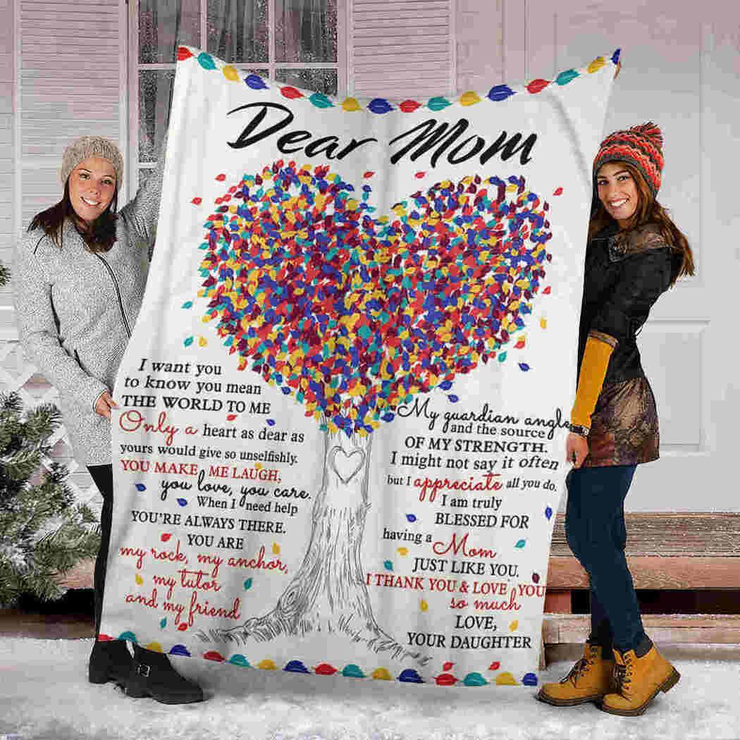 Dear Mom Blanket - Color Tree - I Thank You Blanket