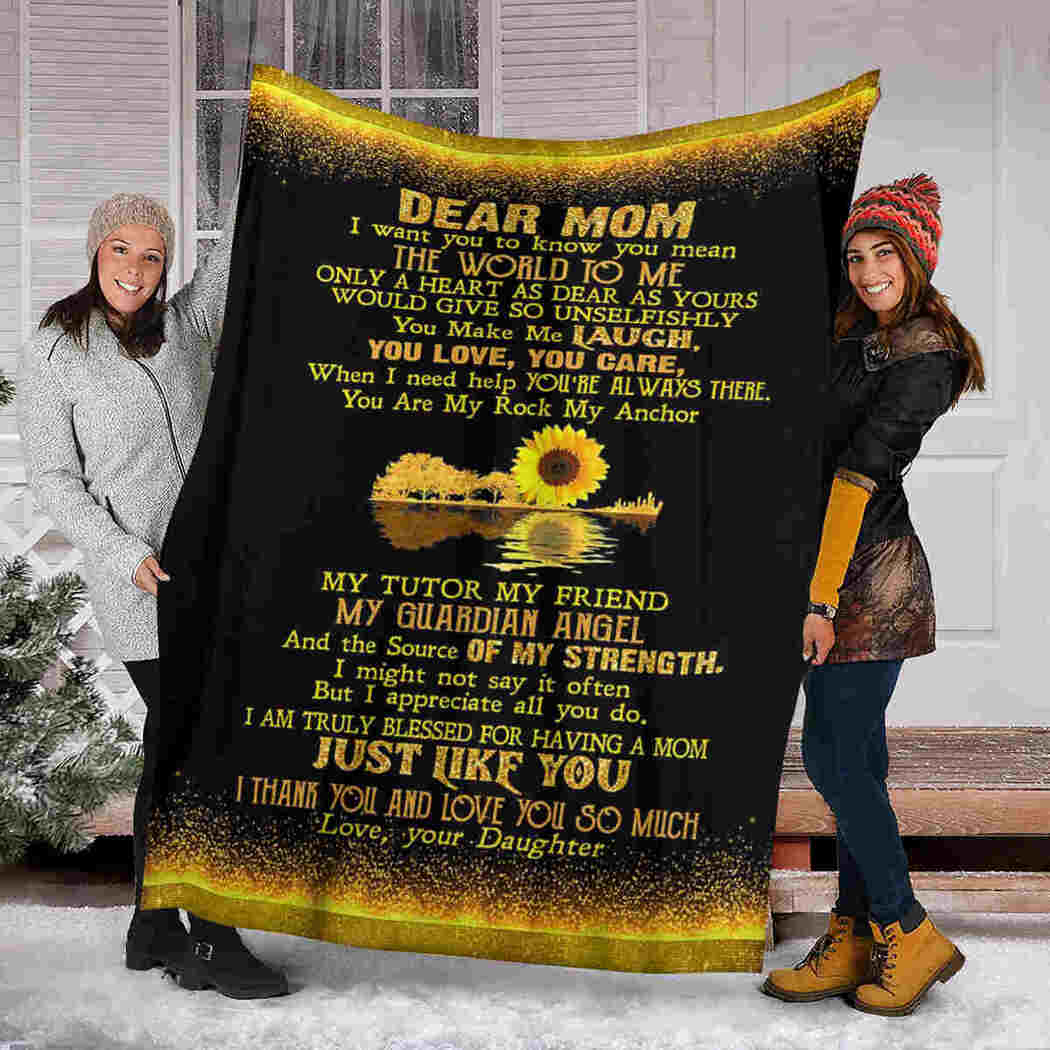 Dear Mom - Sunflower Guitar - I Thank You Blanket