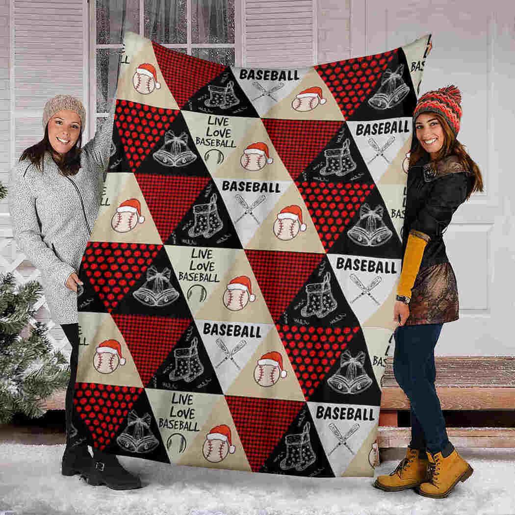 Baseball Live Love Blanket - Christmas Sport Baseball Blanket