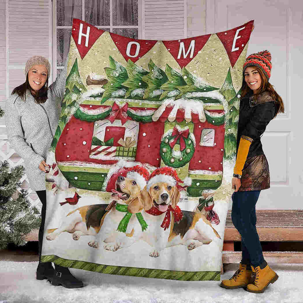 Beagle Christmas Blanket - Come Back Home Blanket