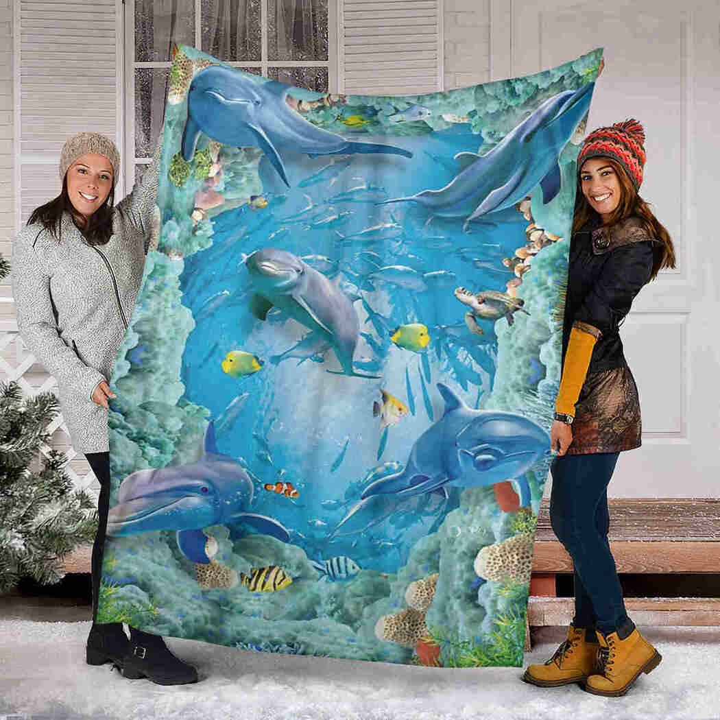 Dolphin Beautiful Blanket - Sea Animals Blanket