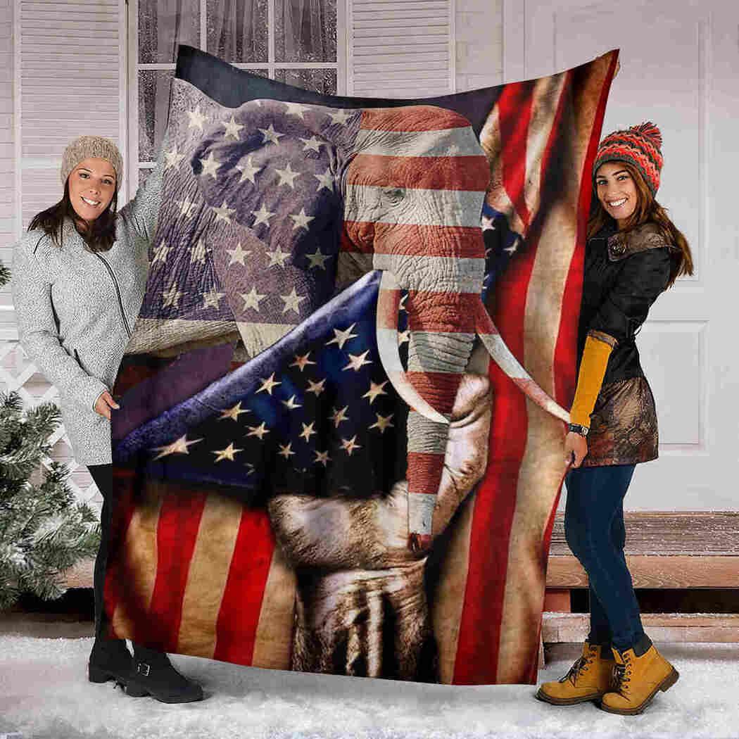 Elephant American Blanket - Beauty Wild Animals Blanket