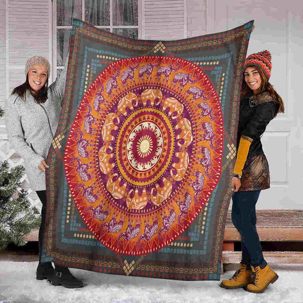Elephant Blanket - Pattern Blanket