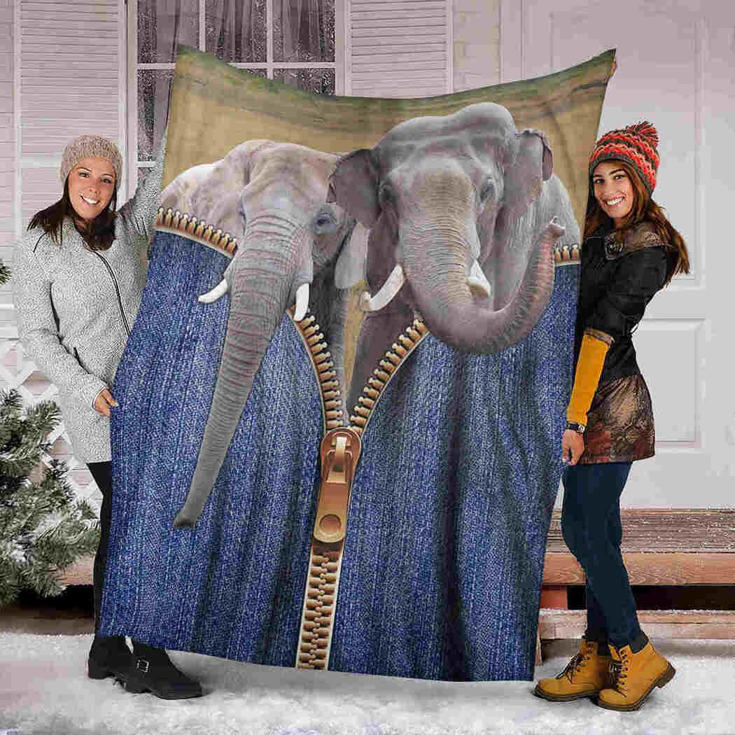 Elephant Blanket - I Love Elephant Blanket